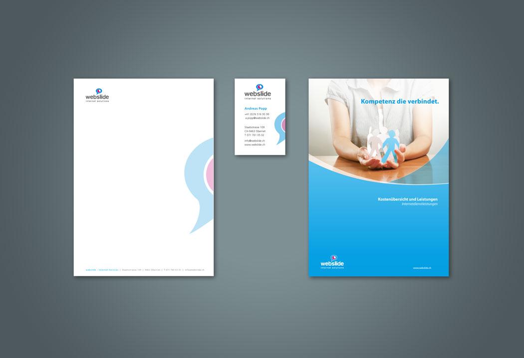 Corporate Design Grafikfreelancer – Gestaltung und Konzept CI für die Firma webslide.