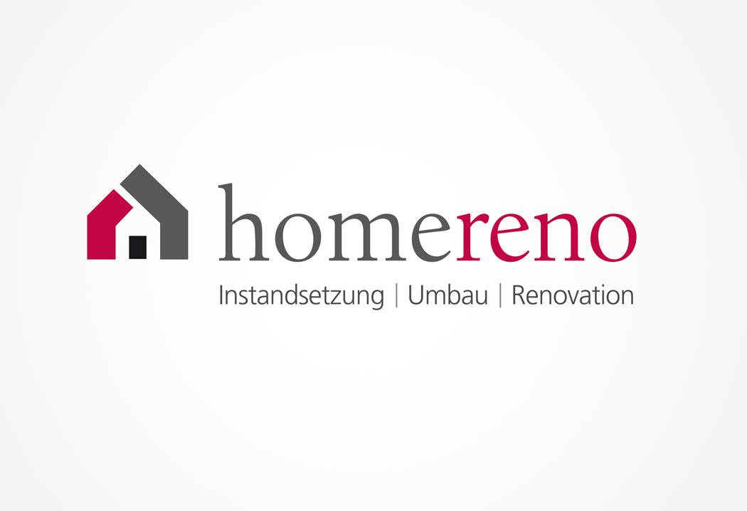 Logodesign Grafikfreelancer – Gestaltung Firmenlogo für Homereno aus Zürich.