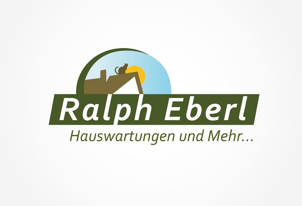 Logodesign Grafikfreelancer – Gestaltung neues Firmenlogo für Eberl Hauswartungen in St.Gallen.