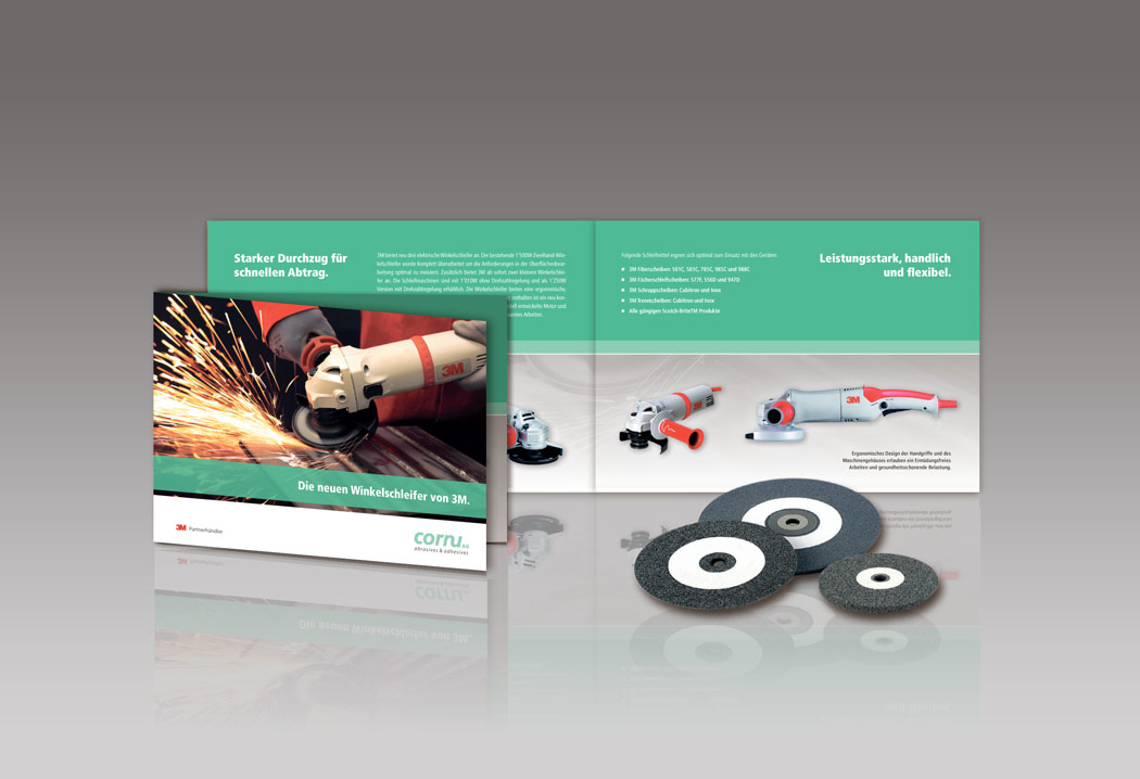 Printdesign Grafikfreelancer – Gestaltung und Layout Werbeprospekt für die Firma Cornu AG.