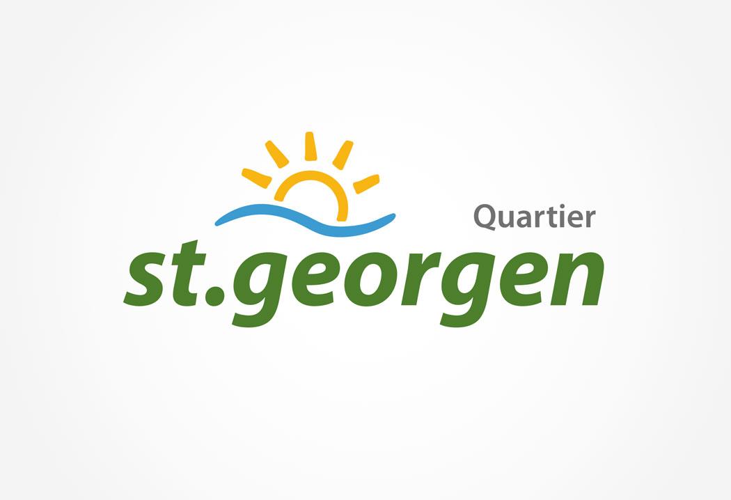 Logodesign Grafikfreelancer – Gestaltung und Design eines neuen Logos für das Quartier St.Georgen.