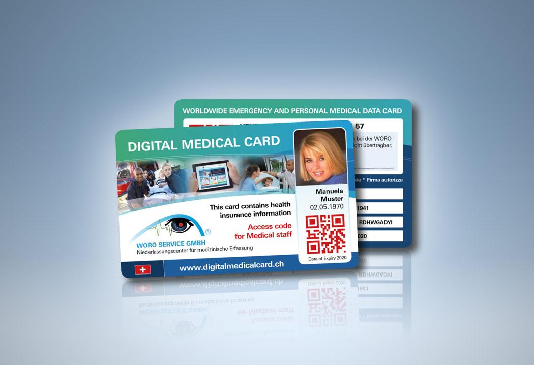 Printdesign Grafikfreelancer – Gestaltung und Konzept der Digital Medical Card.