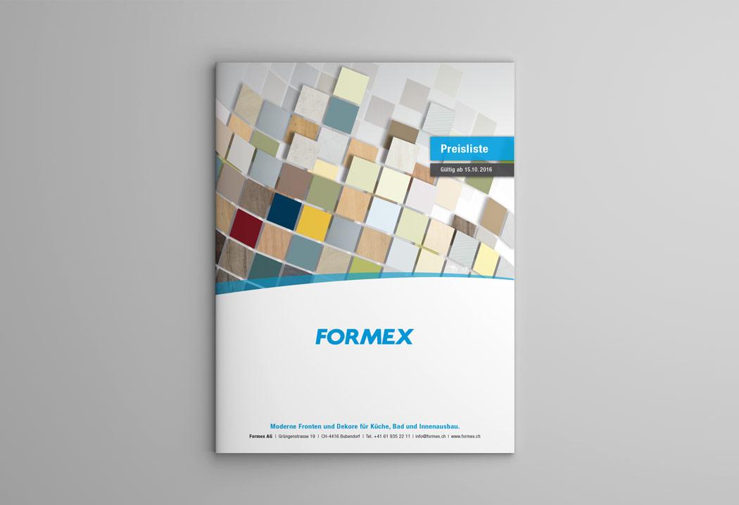 Printdesign Grafikfreelancer – Gestaltung und Konzept verschiedener Drucksachen für Formex in Basel.