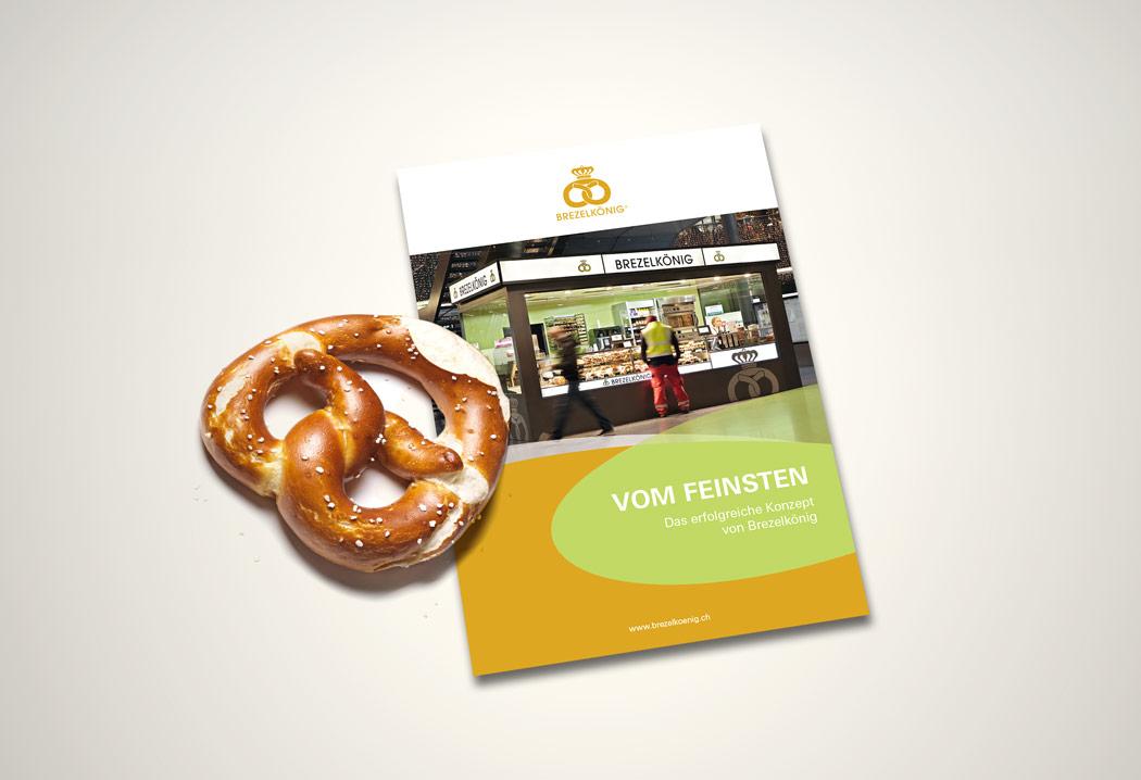 Printdesign Grafikfreelancer – Grafik, Gestaltung und Konzept eines Werbeflyers für Brezelkönig.
