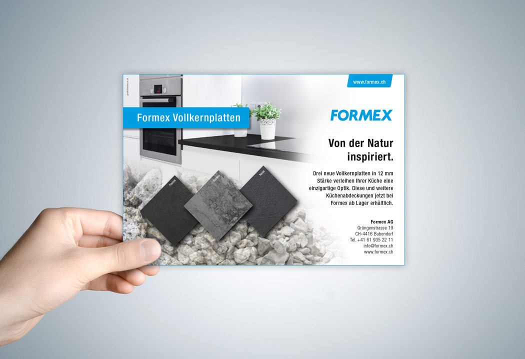 Printdesign Grafikfreelancer – Gestaltung und Erstellung von diversen Werbeinseraten für Formex.