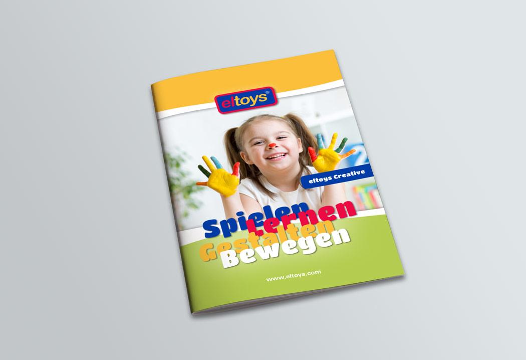 Printdesign Grafikfreelancer – Gestaltung und Layout Katalog für eltoys creative.