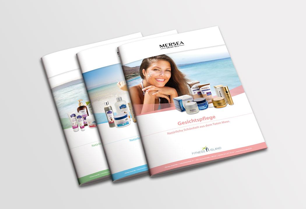 Printdesign Grafikfreelancer – Gestaltung, Layout und Erstellung Katalog für die Mersea Kosmetikprodukte.