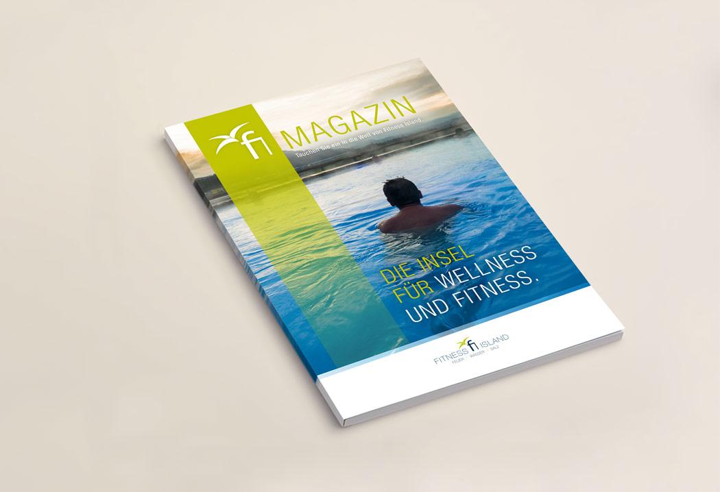 Printdesign Grafikfreelancer – Grafik, Gestaltung und Layout Magazin für Fitness Island.