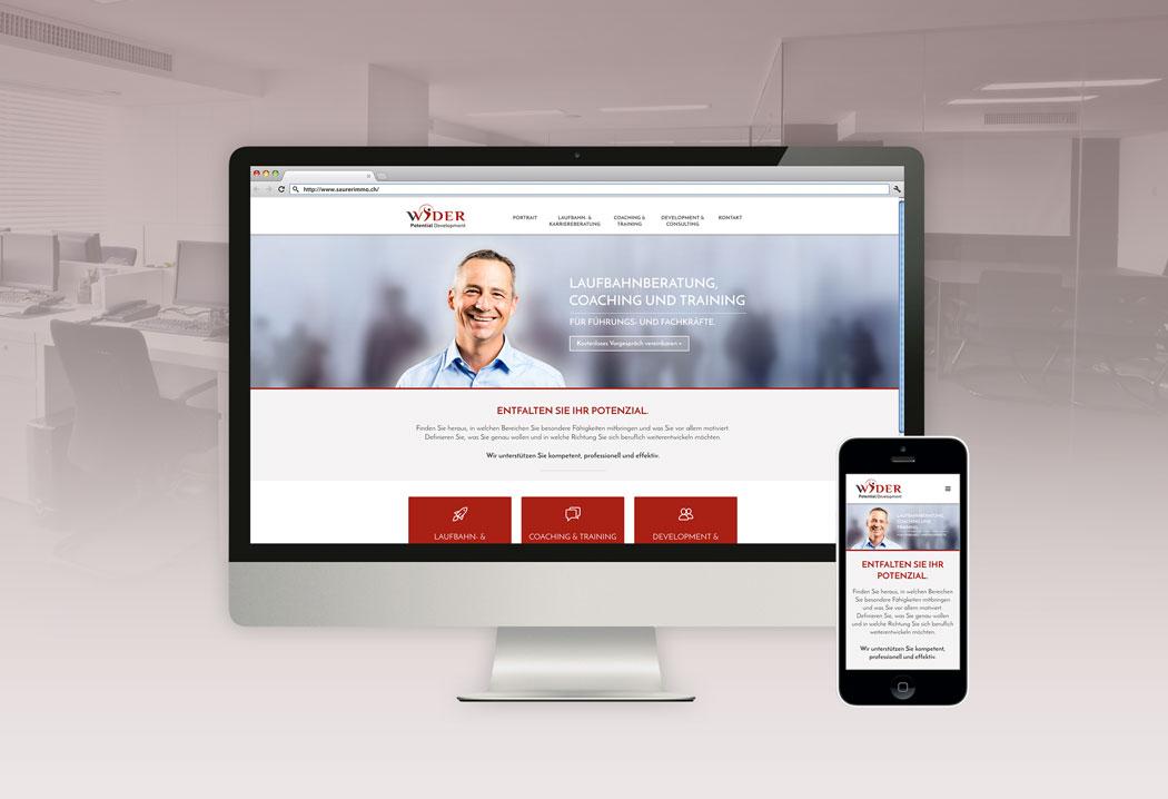 Webdesign Grafikfreelancer – Neugestaltung und Erstellung der Website Wider Potential Development